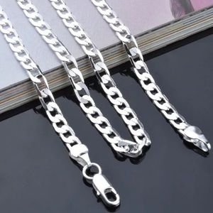 Other - 925 Sterling Silver Necklace 6MM link chain